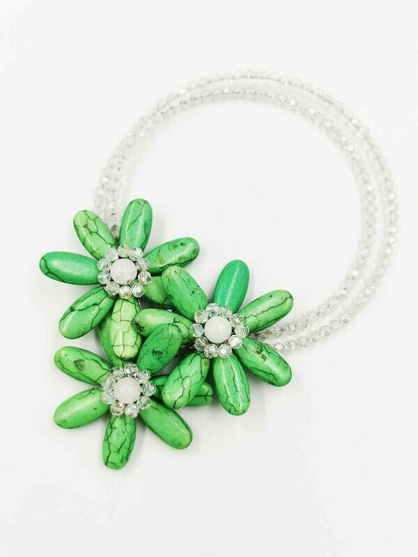 Green Energy Statement Necklace