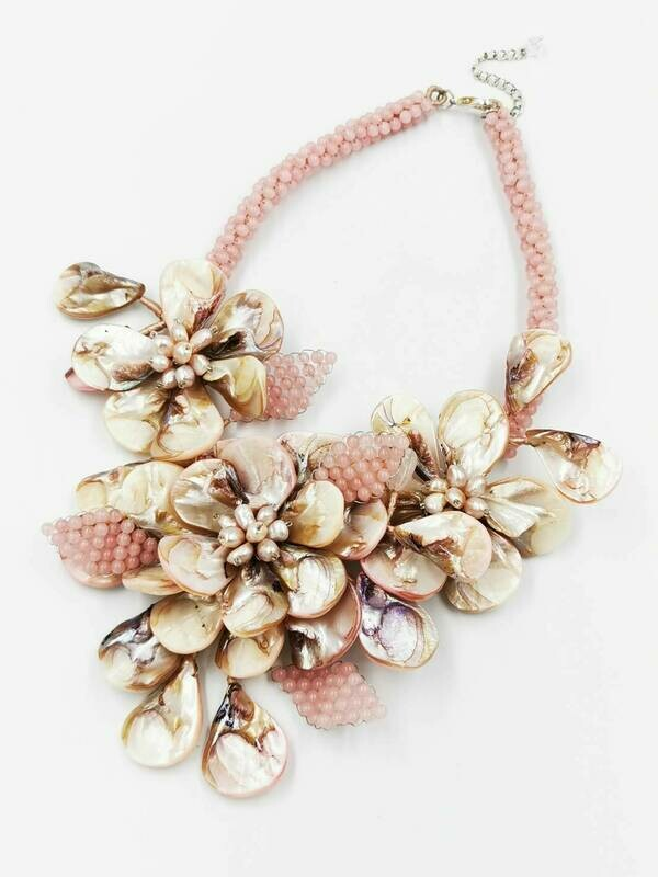 Pinkly Pretty Statement Necklace