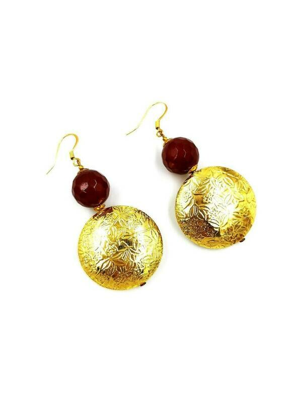 Golden Splendour Drop Earrings