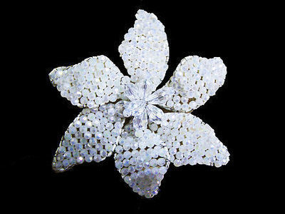 White Radiance Bridal Brooch