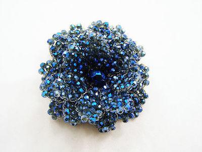 Boldly Blue Crystal Brooch