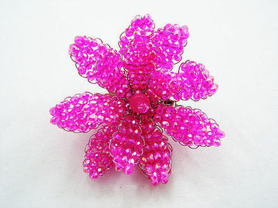 Raspberry Radiance Brooch