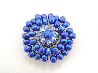 True Blue for You Brooch
