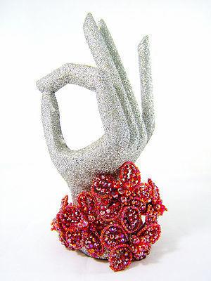 Radiant Red Floral Crystal Bracelet
