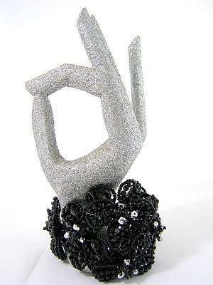 Elegant and Classy Black Crystal Bracelet