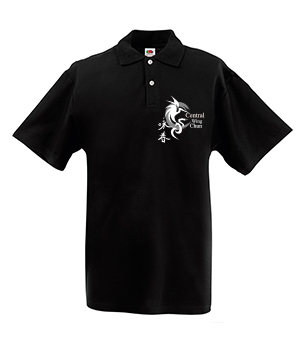 CWC polo t-shirt (black)