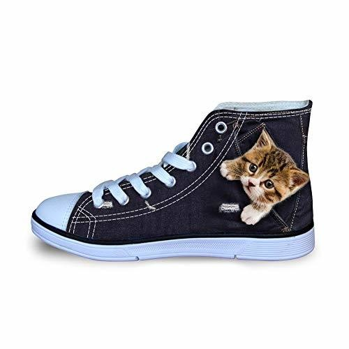 Coloranimal Universe Space Galaxy High Top Flat Canvas Shoes for Unisex Child