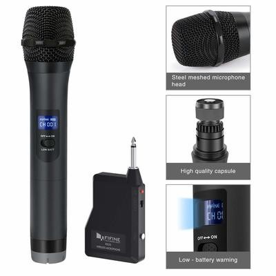 Wireless Microphone,FIFINE Handheld Dynamic Microphone