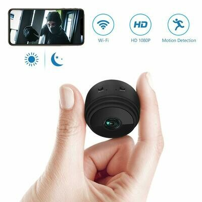 ieGeek Hidden Camera Wi-Fi Mini Spy Camera HD 1080P Home Small Nanny Cams Wireless with Cell Phone App Remote View & Playback with Built-in Battery/Magnetic Design/Motion Detection/Night Vision