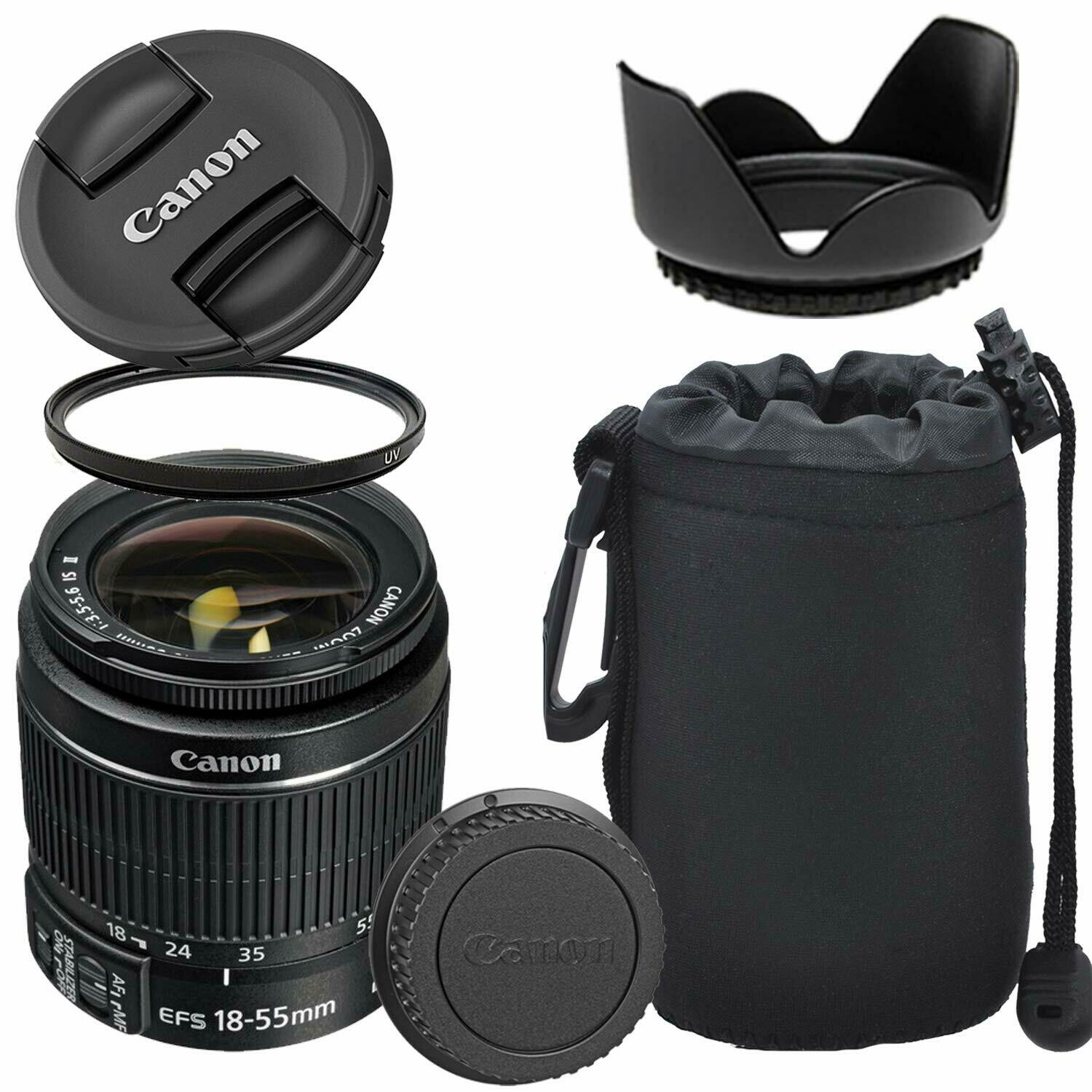 Canon EF-S 18-55mm f/3.5-5.6 is II Lens with Optimal Accessory Bundle