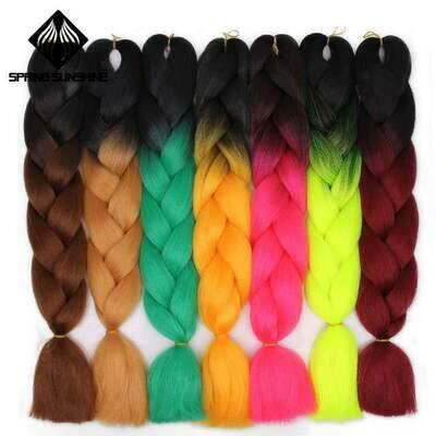 Printemps soleil 1 5 pièces 24 pouces Jumbo tresse cheveux Yaki doux cheveux Ombre Crochet tressage synthétique Extension de cheveux pour tresses rose