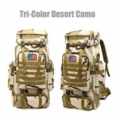 Outdoor Military bag   *color plateau camouflage*      *capacity 80L*