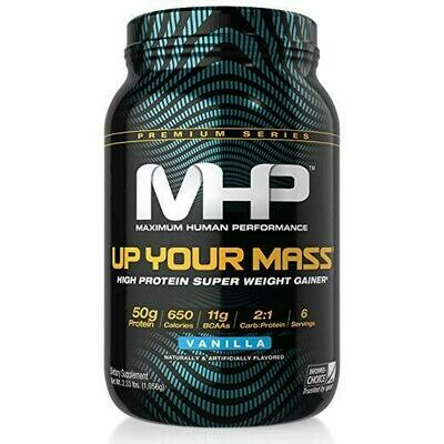 MHP, Up Your Mass Weight Gainer, Vanilla, 2 Pound