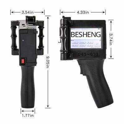 Besheng Portable Intelligent High Definition Handheld Inkjet Printer, Inkjet Code Printer,Label Printer,LED Screen Display Inkjet Coding Machine for...