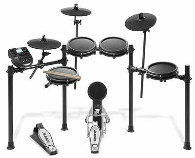 Alesis Drums Nitro Mesh Kit | Eight Piece All-Mesh Electronic Drum Kit With Super-Solid Aluminum Rack, 385 Sounds, 60 Play-Along Tracks, Connection Cables, Drum Sticks & Drum Key included.