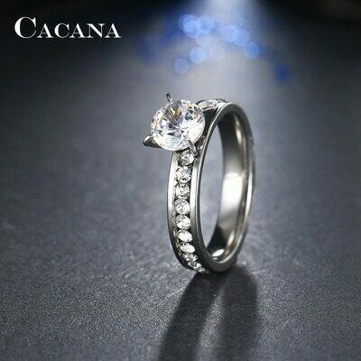 Bague anneaux de mariage anneaux pour femmes bague en acier inoxydable