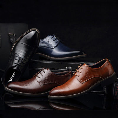 Men Formal oxfords leather Shoes Fashion European style Casual Dress Shoes (2)
