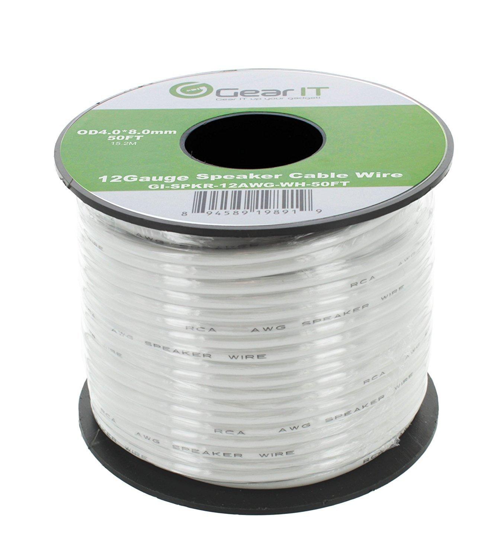 GearIT Pro Series 12 AWG Gauge Speaker Wire Cable 50 FEET