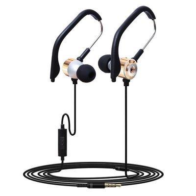 3.5mm Dans L'oreille Clip Sport Casque W/Micro Stéréo écouteur Jogging