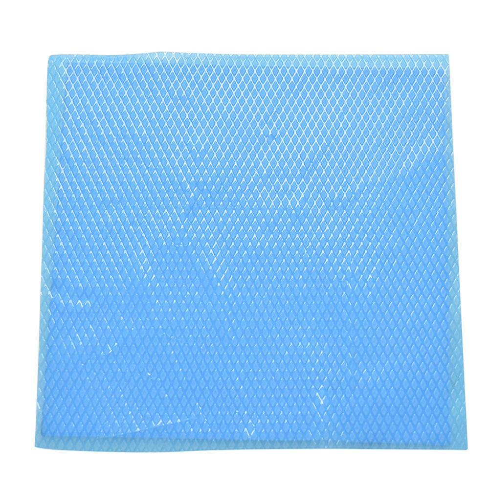 100x100x1mm Blue Heatsink Cooling Thermal Conductive Silicone Pad Uncut Mat TB