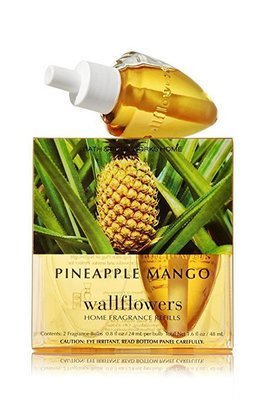 Bath and Body Works Pineapple Mango Wallflowers 2-Pack Refills Home Fragrance Bulbs