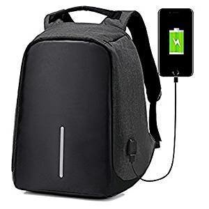 ipack Anti-theft backpack USB port backpack Laptop Backpack (Black)