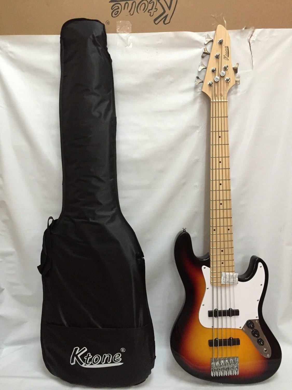 6 3TS 6 String Bass Guitar, Free Gig Bag, Brand New