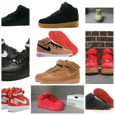 Air Force1 MID Men's Hight Sneakers