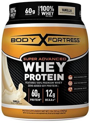 Body Fortress Super Advanced Whey Protein Powder, Vanilla, 2 Pounds