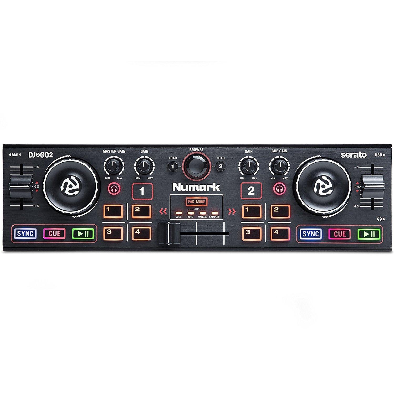 Numark DJ2GO2 | Pocket DJ Controller with Audio Interface and Serato