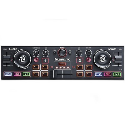 Numark DJ2GO2 | Pocket DJ Controller with Audio Interface and Serato