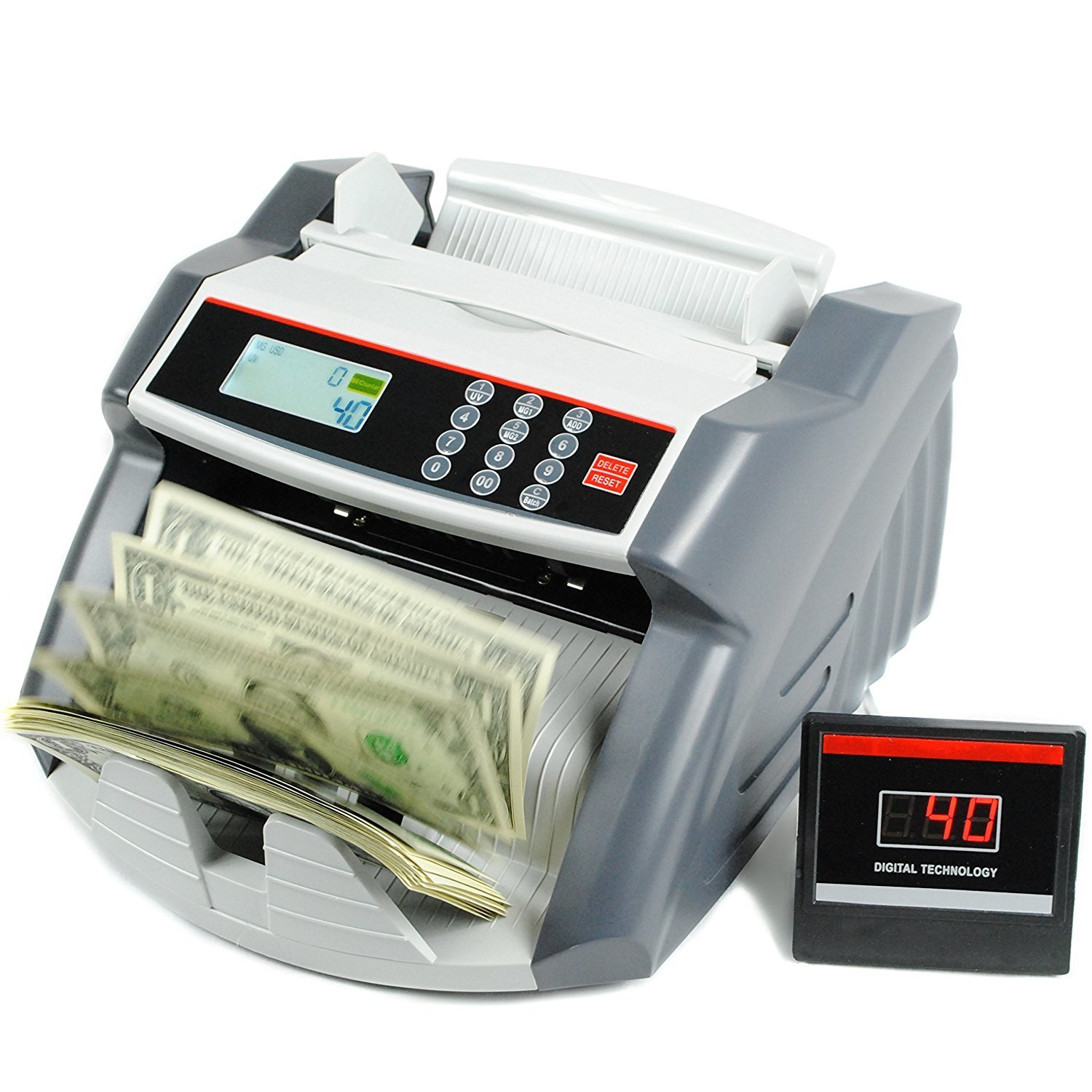 Aibecy Auto Multi-Currency Cash Banknote Bill Counter Machine LCD