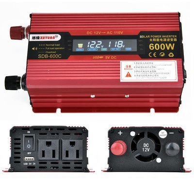 LED Power Inverter 600 WATT DC 12V/24V to AC 110V Charger Converter