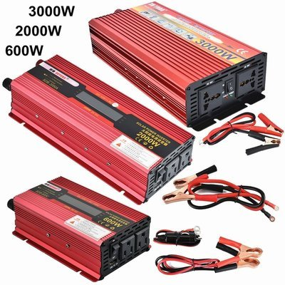2000W WATT Peak Car LED Power Inverter DC 12V to AC 110V