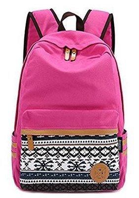 Young People Canvas Casual Rucksack Shoulder Backpack School Bag
