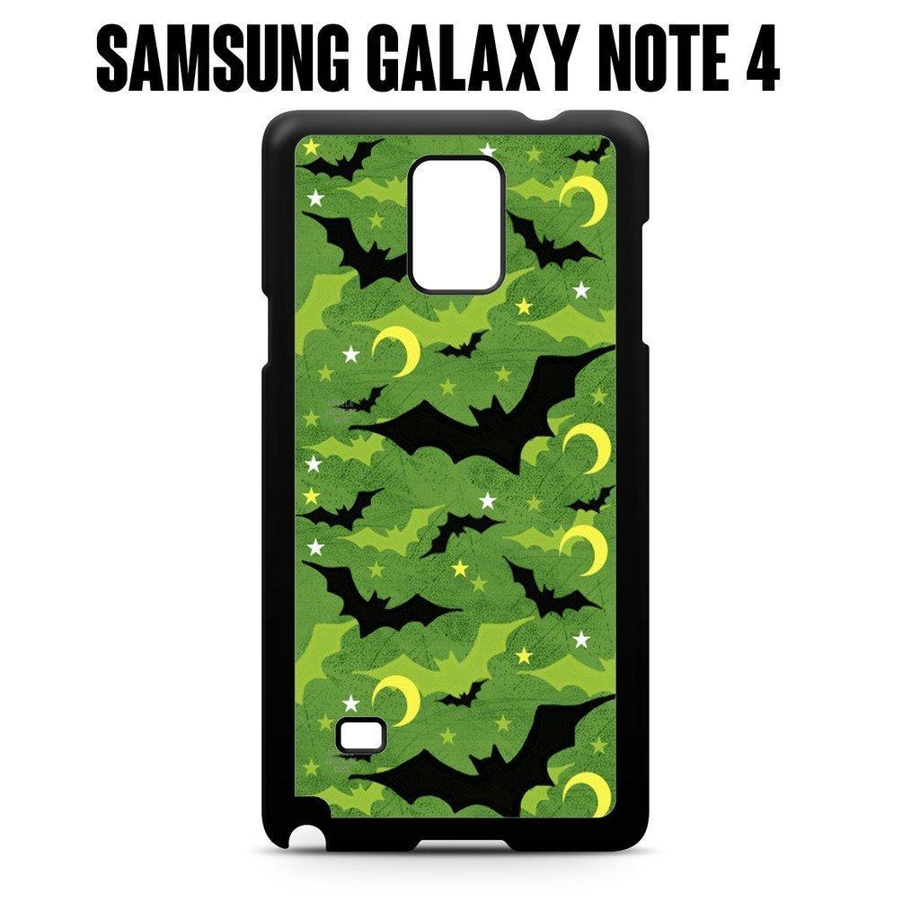 Phone Case Green Bat Halloween Pattern for Samsung Galaxy