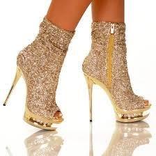 2018 New Fashion Brand High Heel Women Sandals Gold Rhinestone