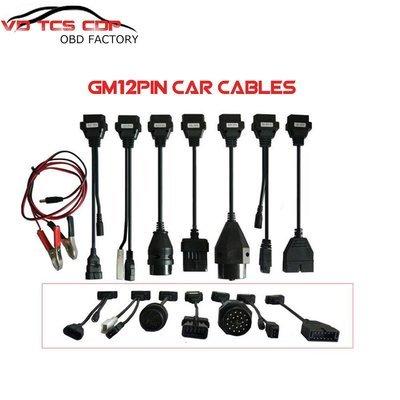 Full Set 8 Car Cable Connecter OBD2 Diagnostic Tool CDP Pro DELPHI DS150E