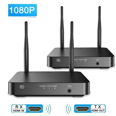 Box  Wifi Wireless HDMI Extender Video Kit with Transmitter and Receiver, 328 Feet Video Transmission