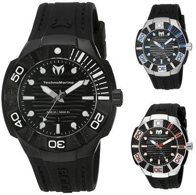 Watch for menTechnomarine  45mm Stainless Steel Black 500M Watch