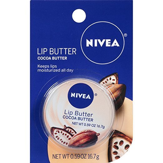New NIVEA Cocoa Butter Lip Butter .59 Ounce Carded (PACK of 6)