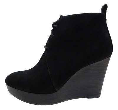 ARTICLE Womens Pierce MIkael Kors Wedge Lace up Platforms Fashion Ankle BOOTS Shoes Black 10