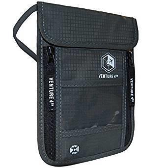 New style Travel Neck Pouch Neck Wallet Stash with RFID Blocking – Passport Holder