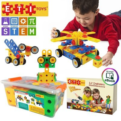 CREATIVE STEM Learning | Original 101 Piece Educational Construction Engineering Building Blocks Set for 3, 4 and 5+ Year Old Boys & Girls | Creative Fun Kit | Best Toy Gift for Kids Ages 3yr - 6yr