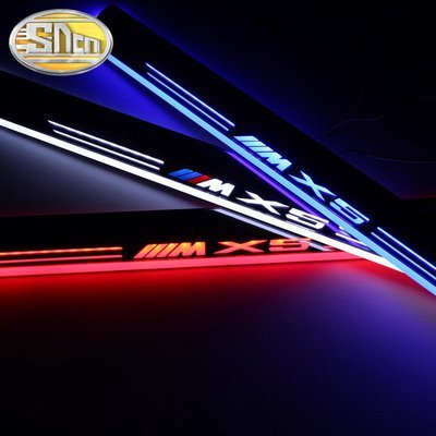 New LED Car Scuff Plate Trim Pedal LED Door Sill Pathway Light For BMW X5