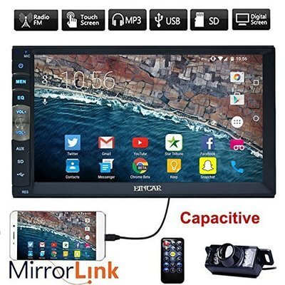 Device New Brand Upgarde Version 7 Inch Capacitive Touch Screen Audio Mirror Link for GPS Android Phone Double 2 Din Bluetooth Car Stereo In Dash Video Auto radio Without DVD Player+Rear View Camera