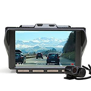 Camera Z-EDGE S4 Dual Dash Cam, 4.0 Inch IPS Ultra HD 1440P Front & 1080P Rear 150° Wide Angle Lens Dashboard Camera Recorder, 360° Rotated Rear View Camera with Night Mode, WDR and 32GB Card Included