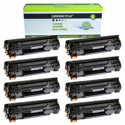 Unit GREENCYCLE 8 Pack Replacement CF283A 83A Black Toner Cartridge Compatible for LaserJet Pro MFP M125a M125nw M125rnw M225dn M225dw M127fw M127fn M201dw M201n Printer