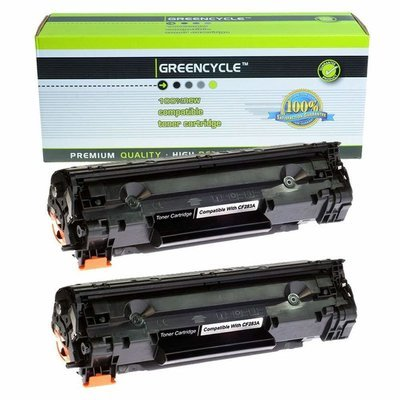 Quality GREENCYCLE 2 PK Compatible For HP CF283A 83A Black Toner Cartridge Laserjet Pro mfp m127fw m127fn m125nw Printer