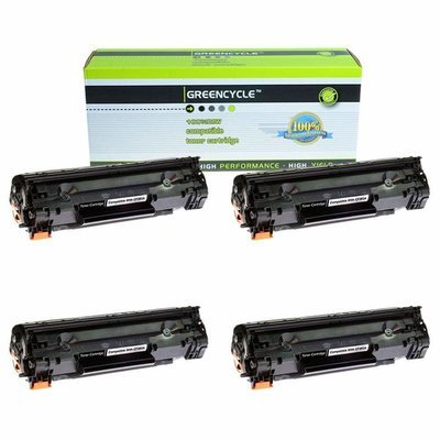 New GREENCYCLE 4 PK Compatible For HP CF283A 83A Black Toner Cartridge Laserjet Pro mfp m127fw m127fn m125nw Printer